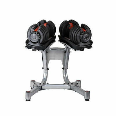 NEW 48kg Adjustable Dumbbell Set w Stand Home GYM Exercise Equipment Weights