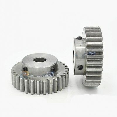 45# Steel Spur Gear 1.5Mod 35T Motor Gear Outer Dia 55.5mm Bore 6mm x 1Pcs
