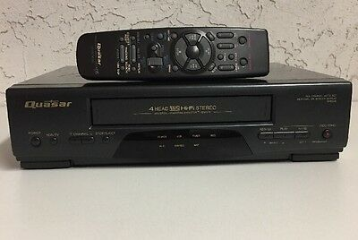 Quasar VHQ46 HIFI Stereo VHS VCR Video Cassette Recorder Player with Remote