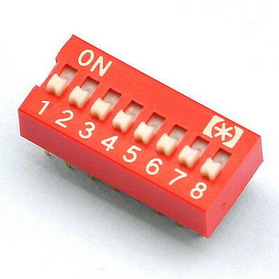 10x  8 Way DIP Switch, 8 Position 16 pin PCB Mountable