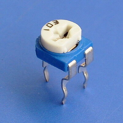 Top-Adjust Single-Turn Trimming Potentiometer, Trimmer, 13 values to choose.