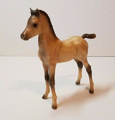 "Breyer Horse Proud Arabian Foal Brown Black Hair Baby Model Plastic 6"" Toy"
