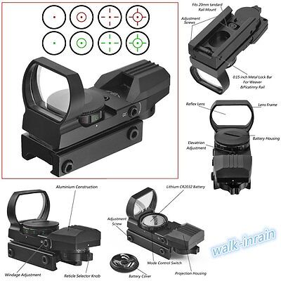 New Optics Compact Reflex Red Green Dot Sight Scope 4 Reticle for Hunting Hot AO