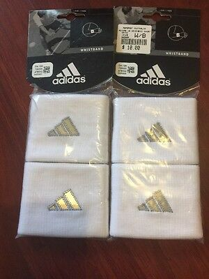 3 packets contains 2 White Adidas Wrist Bands