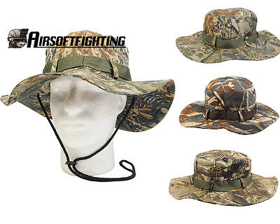 Hunting Military Camo Bucket Hats Fisherman Hat with Wide Brim Sun Fishing