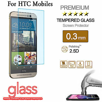 100% Real Gorilla Tempered Glass Film Screen Protector For HTC Mobile Phones