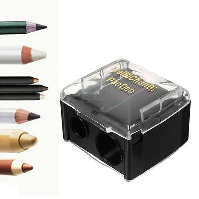 Dual Holes Cosmetic Pencil Sharpener Eyeliner Eyebrow Lip Liner Make Up Tool New