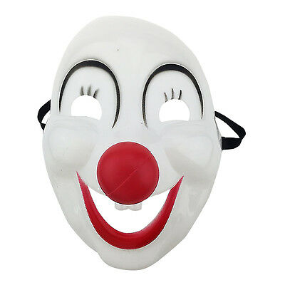 Big Smilling Mask with Red Lip and Red Nose Fancy Dress Halloween Costume UK