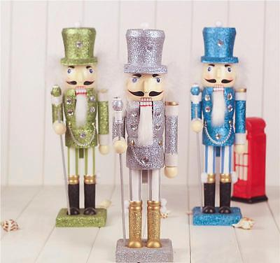 "Original Christmas Nutcracker Soldiers 15""Wooden Walnut Gift Xmas Table Ornament"