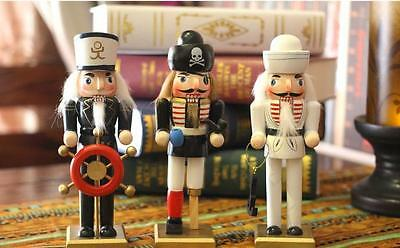 "12"" Sailor Wooden Nutcracker Walnut Soldiers Mediterranean Christmas Decorations"