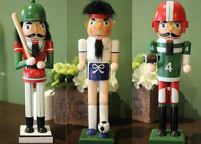 Sport Christmas Ornaments Wooden Walnut Soldiers Nutcracker Xmas Decorations