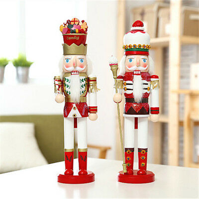 "15"" Cute Walnut Soldiers Christmas Wooden Nutcracker Soldiers Xmas Decorations"