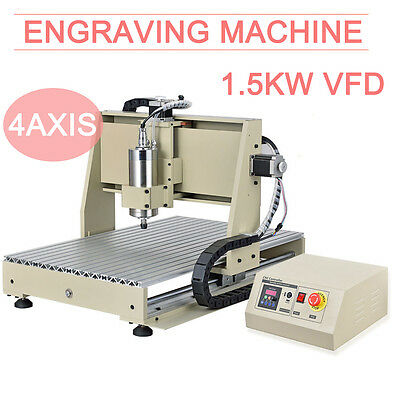 1.5KW 4-axis CNC router 6040 engraving machine cutting router graveur drilling b