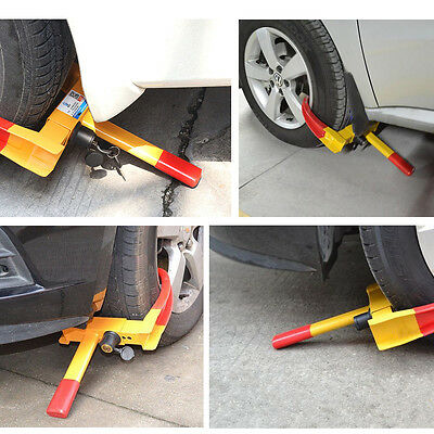 New Steel Car Wheel Clamp Safety Lock Anti-theft For Caravan Trailer With 2 Keys