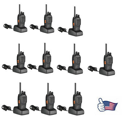 10 Pack Baofeng BF-888S 400-470MHz 16CH Two-way Ham Radio Walkie Talkie