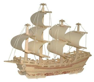 Traditional DIY 3D Wooden Merchant Ship Model Construction Kit Collectibles