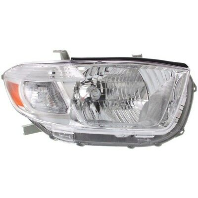New Right Head Light Lens & Housing To2503176 Fits 2008-2010 Toyota Highlander