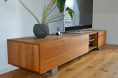 tv sideboard lowboard holz m bel eiche massiv wie neu. Black Bedroom Furniture Sets. Home Design Ideas