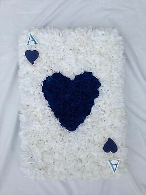 Artificial Silk Funeral Flower Ace of Hearts Card Game Player Tribute Wreath