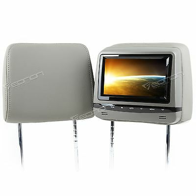 "HD 2x7"" in Car Headrest Monitor Stereo DVD Player Speaker USB SD IR FM I Game"