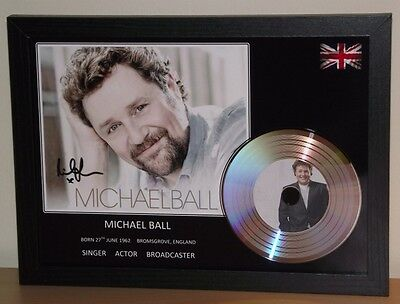 Michael Ball Signed Photo And Silver Presentation Disc