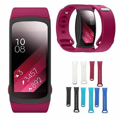 Replacement Silicone Wristband Watch Band Strap For Samsung Gear Fit 2 Tracker