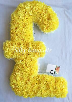 Artificial Silk Funeral Flower Letter Single 2ft Large Number Memorial Party