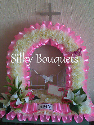 Artificial Silk Flower Mothers Day Gates Of Heaven Tribute Grave Funeral