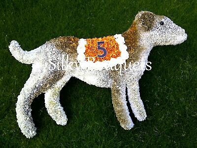 Artificial Silk Funeral Flower Dog Wreath Spaniel Terrier Tribute Memorial Grave
