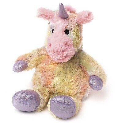Intelex WARMIES Lavender Scented COZY PLUSH SPARKLY UNICORN Heatable SOFT TOY