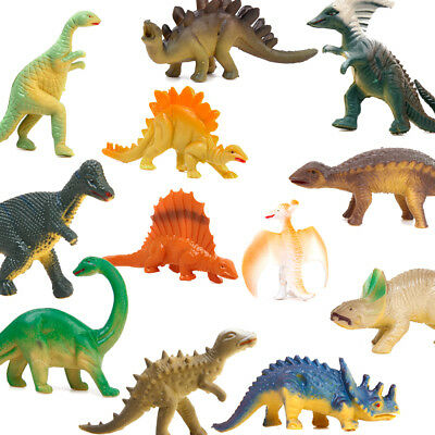 Pack of 12pcs Mixed Types Mini Dinosaur Model Preschool Kids Educational Toy