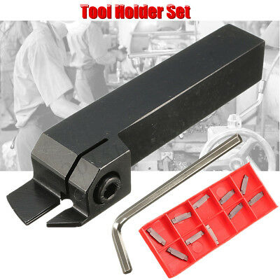 10Pcs 2MM Carbide Inserts + MGEHR16 Parting Off Turning Toolholder Lathe Tools