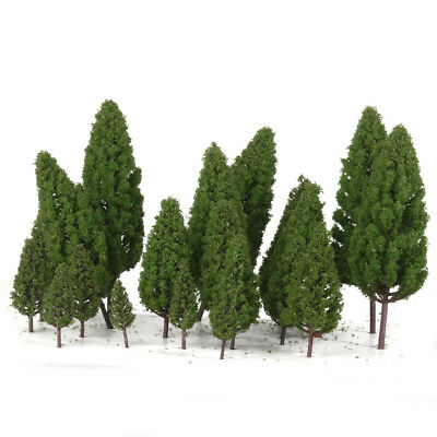 20pcs Tower Shaped Trees Model for Train Scenery Landscape Building 1:50-400