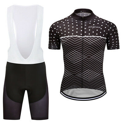 Unique Mens Team Cycling Skin Suits Short Sleeve Jersey Shirt Bib Shorts Kits