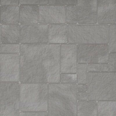 Dolls House 12th scale wallpaper Worn Flagstones