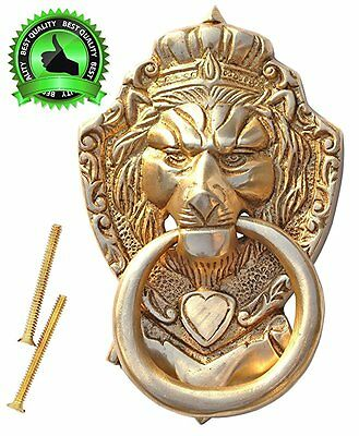 "DIWALI / HALLOWEEN SALE - Perfect Knock Sound - SouvNear 6"" Lion Door Knocker wi"