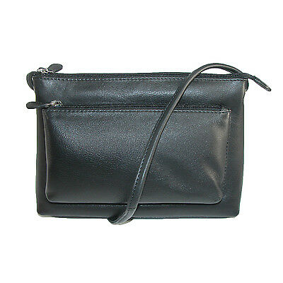 New CTM Women's Leather Crossbody Handbag