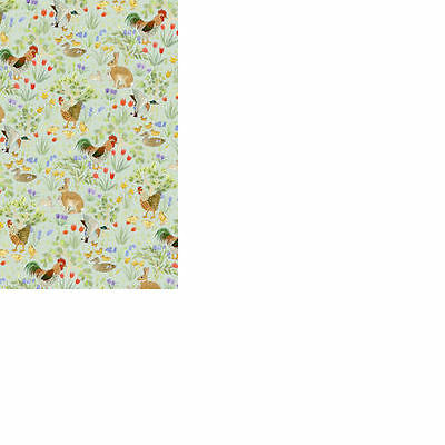 Dolls House 12th scale wallpaper Country Springtime  Wallpaper - Green