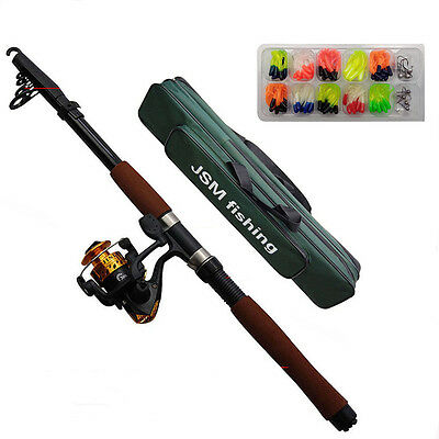2.1M/2.4M Fiberglass Telescope Spining Fishing Rod and Reel Fishing Rod Reel Set