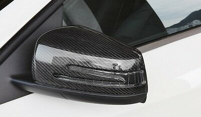 Mercedes Benz Carbon Fibre Side Wing Mirror Covers Caps W204 W212 C300 C63 Amg