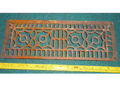 VINTAGE CAST IRON BASEBOARD HEATING GRATE AIR VENT ORNATE art deco