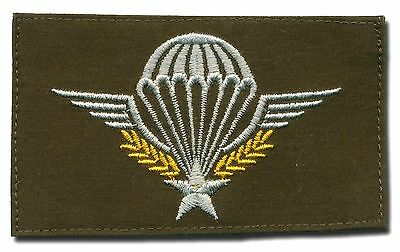 Cloth French Para wings on OD background - Brevet parachutiste militaire