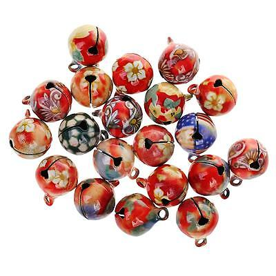 20pcs 16mm Vintage Small Jingle Bell DIY Craft Jewelry Decoration Pendant