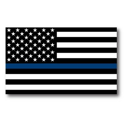 Thin Blue Line American Flag Magnet 3x5 inch Decal for Car Truck SUV or Fridge