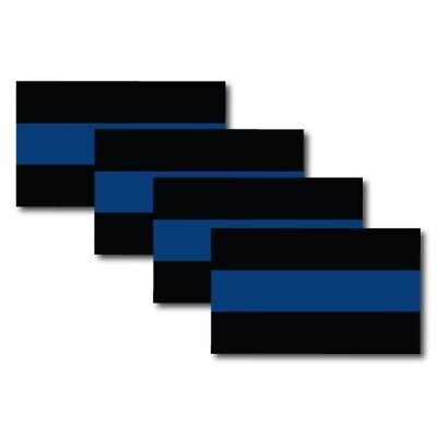 Thin Blue Line Magnets 4 Pack 3x5 inch Flag Decals Great for Cars or to Share