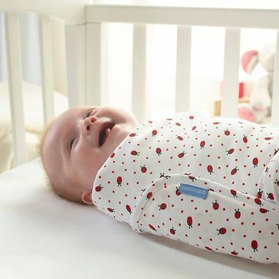 Ladybird Spot Baby Lightweight Sleeping Swaddle 0-3 Months by The Gro Company