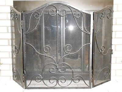 Restore & Restyle Hearth Target Black wrought iron tri-fold fireplace screen