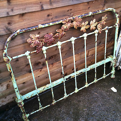 Antique Bedstead unique beautiful leaves and grapes, French ? Victorian