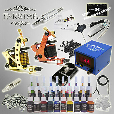 Complete Tattoo Kit Inkstar Maker D with Black, Color, Professional or No Ink