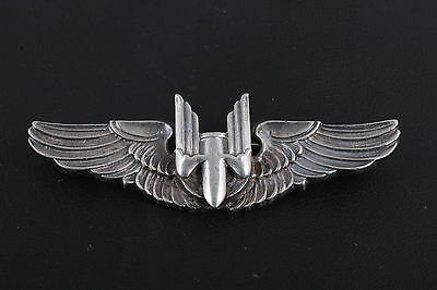 Sterling Silver Amico Wwii Aerial Gunner Shirt Wing Brooch 925 Fine 3446